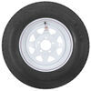 "Loadstar ST215/75D14 Bias Trailer Tire with 14"" White Wheel - 5 on 4-1/2 - Load Range C 215/75-14 AM3S550"