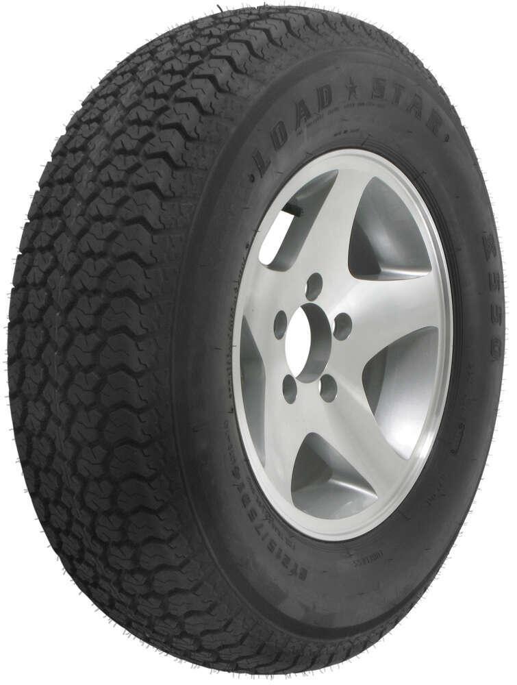 "Loadstar ST215/75D14 Bias Trailer Tire with 14"" Aluminum Wheel - 5 on 4-1/2 - Load Range C Aluminum Wheels,Boat Trailer Wheels AM3S582"