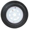 """Loadstar ST205/75D15 Bias Trailer Tire w/ 15"""" White Spoke Wheel - 5 on 4-1/2 - Load Range C 205/75-15 AM3S640DX"""