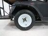 "Kenda 205/50-10 Bias Golf Cart Tire with 10"" White Wheel - 4 on 4 - Load Range B 4 on 4 Inch AM90016"