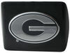 Front View of University of Georgia Chrome Logo Emblem 2 Inch Hitch Cover