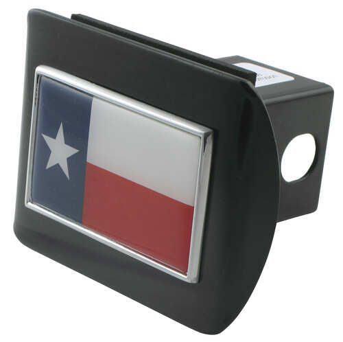 AMG Auto Emblems Premium State of Texas SOLID METAL Heavy Duty Black Hitch Cover Texas Shaped