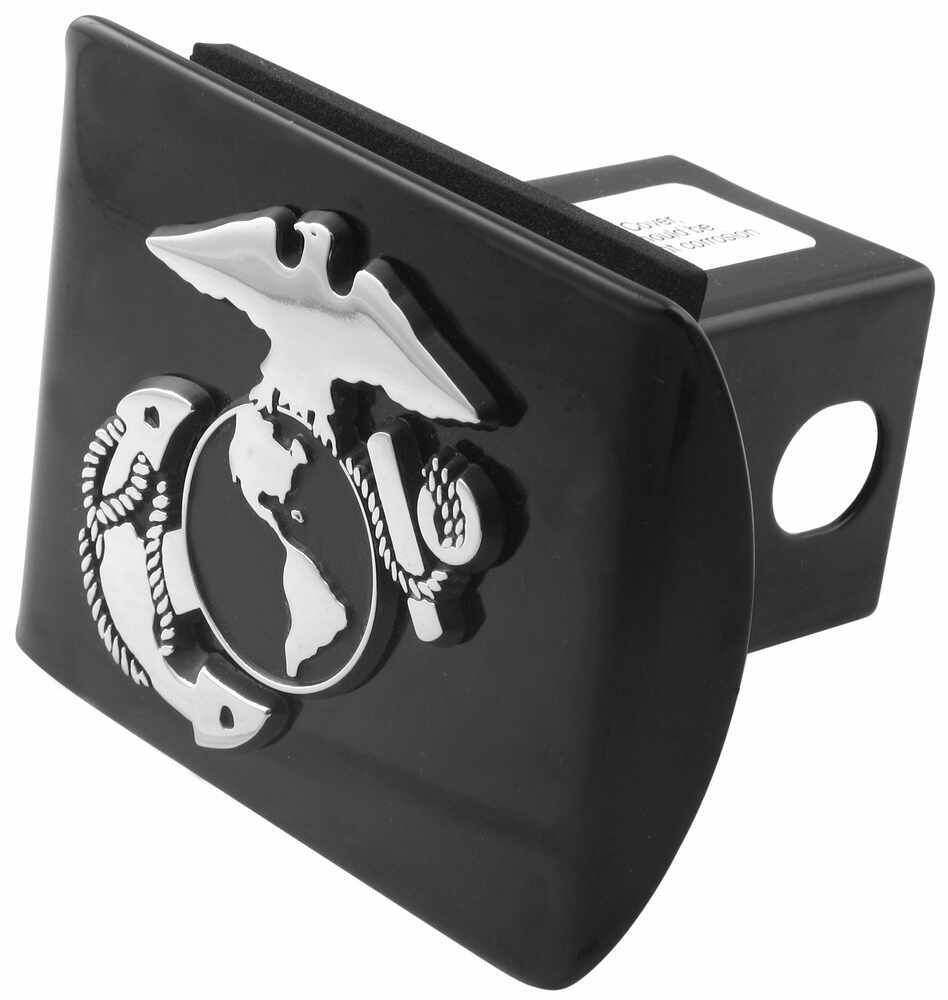 United States Marine Corps Chrome Emblem 2 Inch Hitch Cover