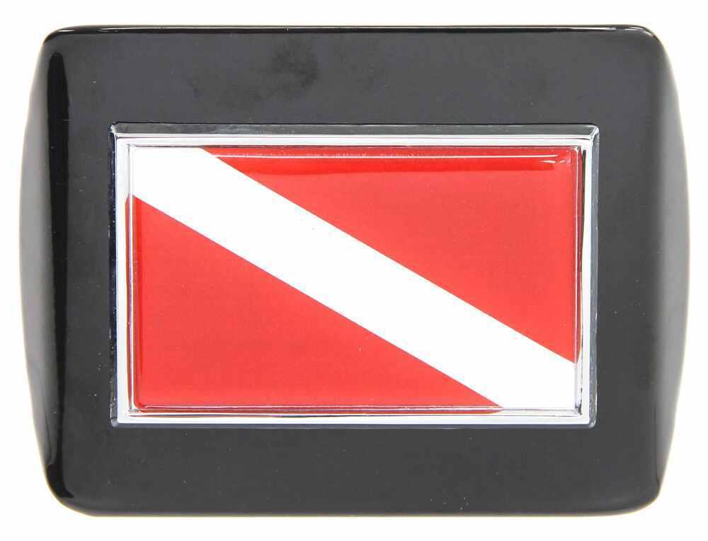 AMG standard size Diver Down flag METAL emblem on chrome METAL Hitch Cover