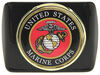 """US Marine Corps Seal Trailer Hitch Receiver Cover - 2"""" Hitches - Color Emblem Metal Face AMG102395"""