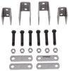 "Single-Axle Trailer Hanger Kit for Double-Eye Springs - 3-1/4"" Front, 1-1/4"" Rear Double Eye Springs APS4"