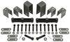 """Tandem-Axle Trailer Hanger Kit for Double-Eye Springs - 2-1/2"""" Front/Rear, 5-7/16"""" Center Double Eye Springs APT1"""