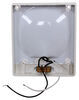 arcon trailer lights interior 6-1/2l x 5-1/2w inch rectangular light with switch - optic lens 12v