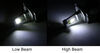 arc headlights replacement bulbs only h4 led headlight - dual beam 4 565 lumens cool white qty 2