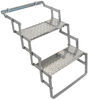 brophy rv and camper steps 2 ground contact scissor - aluminum diamond tread 17 inch wide 250 lbs
