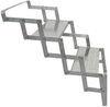 brophy rv and camper steps truck 2 scissor - aluminum diamond tread 17 inch wide 250 lbs
