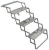 brophy rv and camper steps 3 ground contact scissor - aluminum diamond tread 17 inch wide 250 lbs