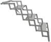 brophy rv and camper steps truck 3 scissor - aluminum diamond tread 17 inch wide 250 lbs