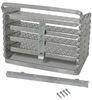 "Brophy Camper Scissor Steps - 4 Steps - Aluminum - Diamond Tread - 17"" Wide - 250 lbs 4 Steps AS04"