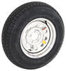 "Taskmaster ST205/75D15 Bias Tire w/ 15"" Steel Mod Wheel - 5 on 4-1/2 - LR C - Silver PVD Finish 15 Inch AS15B645SMPVD"