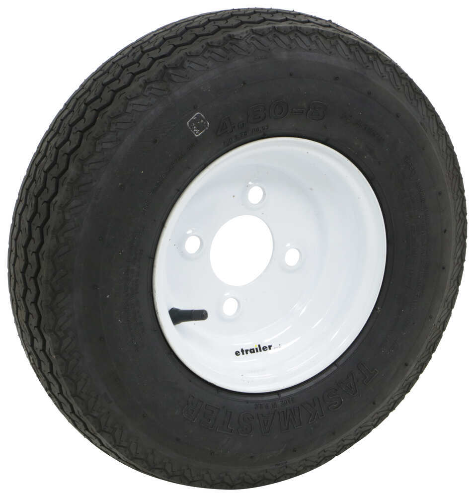 Trailer Tires and Wheels AS4808B4WS - 4.80/4.00-8 - Taskmaster