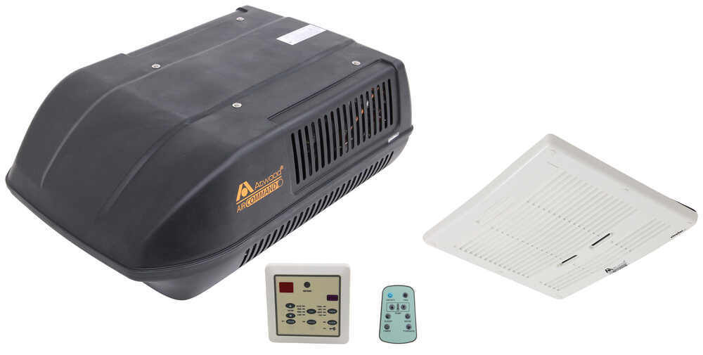 Atwood Air Command Rooftop RV Air Conditioner w/ Heat Pump - 15,000 Btu - Ducted - Black Black AT15033-22