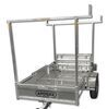 apogee trailers accessories and parts kayak rack for adapt-x 700 folding utility trailer