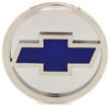 """Chevrolet Bowtie Hitch Cover - 2"""" Hitches - Stainless Steel - Chrome and Blue Stainless Steel AUT-CHV-C"""