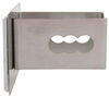 """American Flag Trailer Hitch Cover - 2"""" Hitches - Stainless Steel - Chrome Trim Rectangle AUT-FLAG-C"""