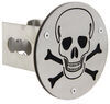 """Skull and Crossbones Hitch Cover - 2"""" Hitches - Brushed Stainless Steel Fits 2 Inch Hitch AUT-SKL2-S"""