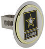 "US Army Trailer Hitch Cover - 1-1/4"" Hitches - Stainless Steel - Gold Trim Standard AUT2-ARMY-C"