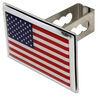 """American Flag Trailer Hitch Cover - 1-1/4"""" Hitches - Stainless Steel - Chrome Trim Standard AUT2-FLAG-C"""