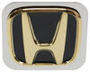 """Honda Trailer Hitch Cover - 1-1/4"""" Hitches - Stainless Steel - Gold and Black Standard AUT2-HON-G"""