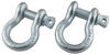 Bestop D-Ring Shackle Set for 4x4 HighRock Bumpers - 9,500 lbs - Qty 2 Bow Shackle B4292100