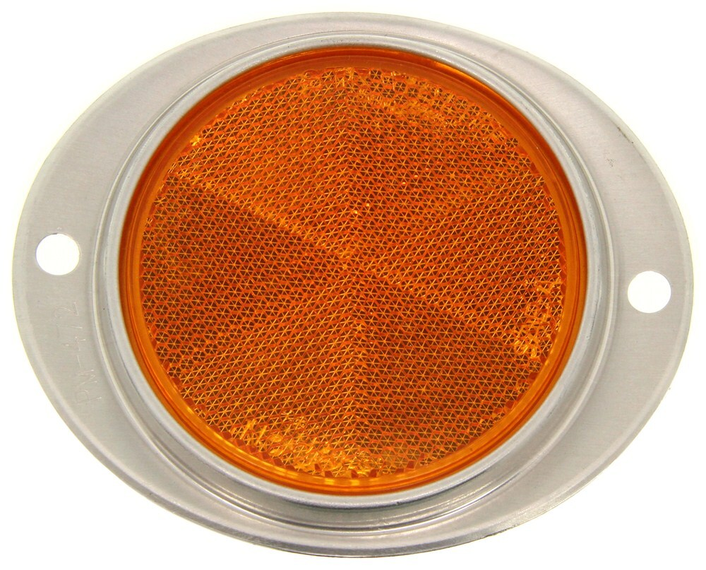 Peterson Low-Profile Oval Trailer Reflector - Aluminum Bezel - Amber Oval B472A