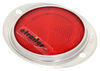 Peterson Low-Profile Oval Trailer Reflector - Aluminum Bezel - Red 4-1/2L x 4W Inch B472R
