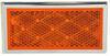 Peterson Quick-Mount Rectangular Trailer Reflector w/ Chrome Bezel - Stick On - Amber Surface Mount B484A