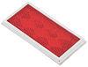 Peterson Quick-Mount Rectangular Trailer Reflector w/ Chrome Bezel - Stick On - Red Red B484R