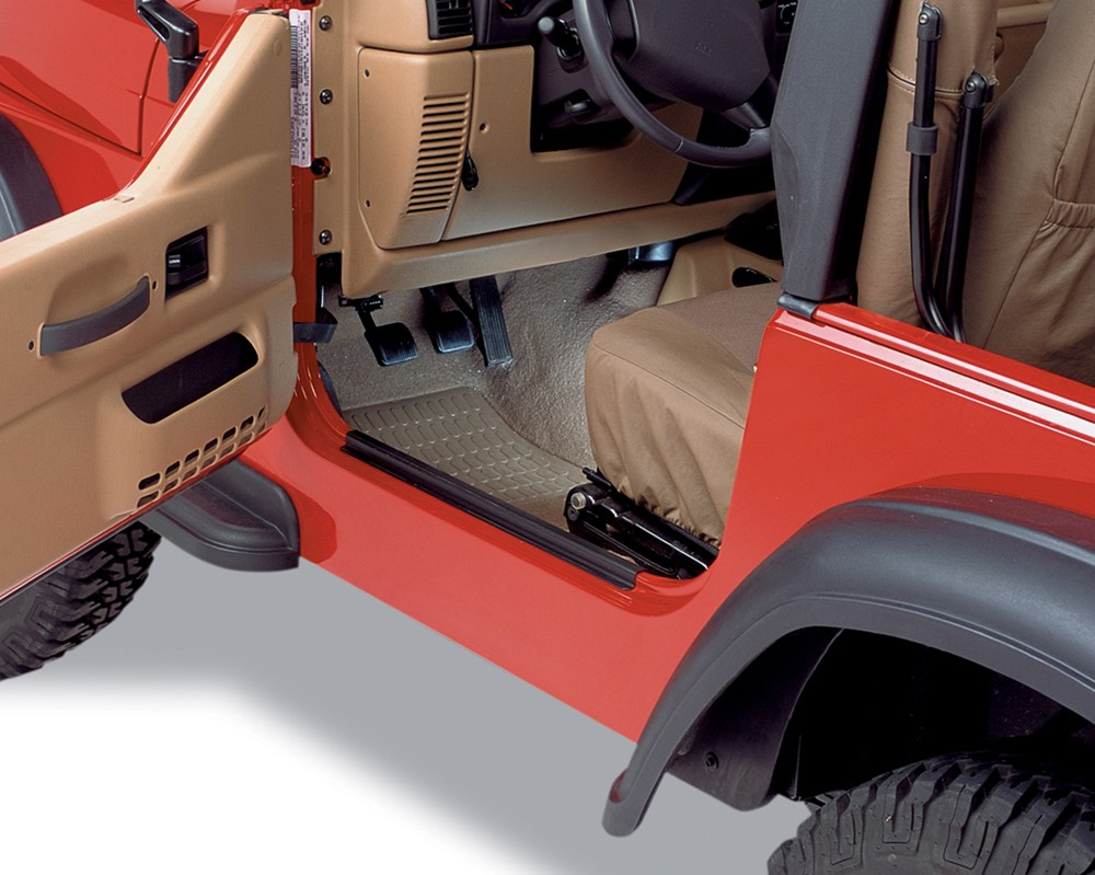 Bestop HighRock 4x4 Entry Guards for 1997-2006 Jeep Black B5104901