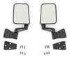 bestop replacement mirrors non-heated mirror for jeep wrangler 1986-2006 - black