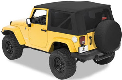 Bestop Sailcloth Replace-A-Top for Jeep - Black Diamond - Tinted Windows Soft Top Fabric B7913635