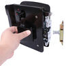 bauer products rv door parts entry rotary latch for horse and utility trailers - gloss black zinc