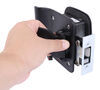 bauer products rv door parts entry lock for horse and utility trailers - matte black die cast zinc