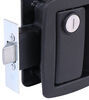 bauer products trailer door latch latches locks manger lock for horse trailers - matte black glass filled nylon