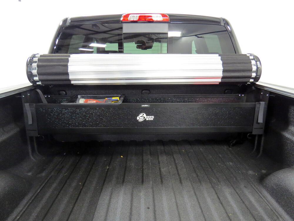 Bakbox 2 Collapsible Truck Bed Toolbox For Bak Revolver X2 Bak Roll X And Bakflip Tonneau Covers Bak Industries Accessories And Parts Bak92120