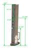 Bulldog Square Tube Gooseneck Coupler - BD0288660300