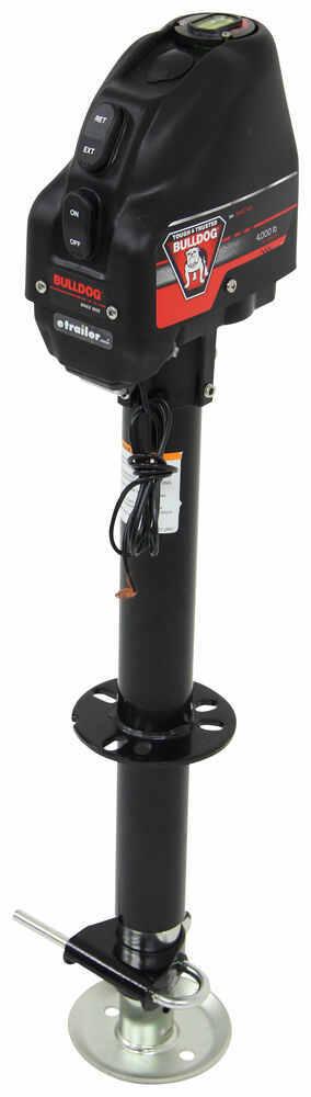"Bulldog Powered Drive Trailer Jack - Drop Leg - A-Frame - 22"" Lift - 4,000 lbs - Black 4000 lbs BD500199"