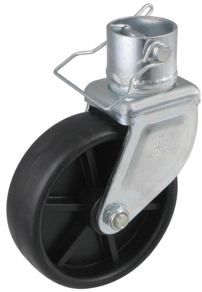 """Bulldog Removable, 6"""" Poly Caster Assembly for 2"""" Jack Tube - 1,200 lbs 6 Inch Wheel BD500245"""