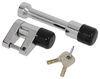 "Bulldog Lifelong Trigger-Style Coupler Lock and 2"" Trailer Hitch Receiver Lock - Chrome Universal Application Lock BD580404"