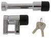 "Bulldog Lifelong Trigger-Style Coupler Lock and 2"" Trailer Hitch Receiver Lock - Chrome 3/4 Inch Span BD580404"