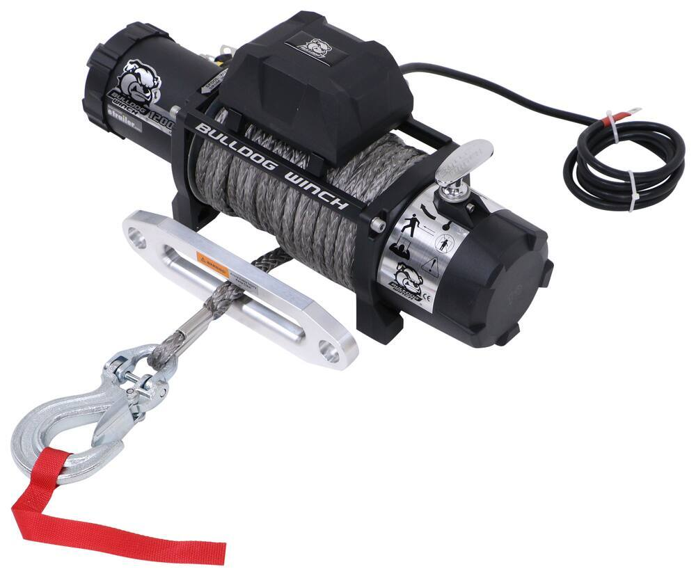 Electric Winch BDW10046 - Synthetic Rope - Bulldog Winch
