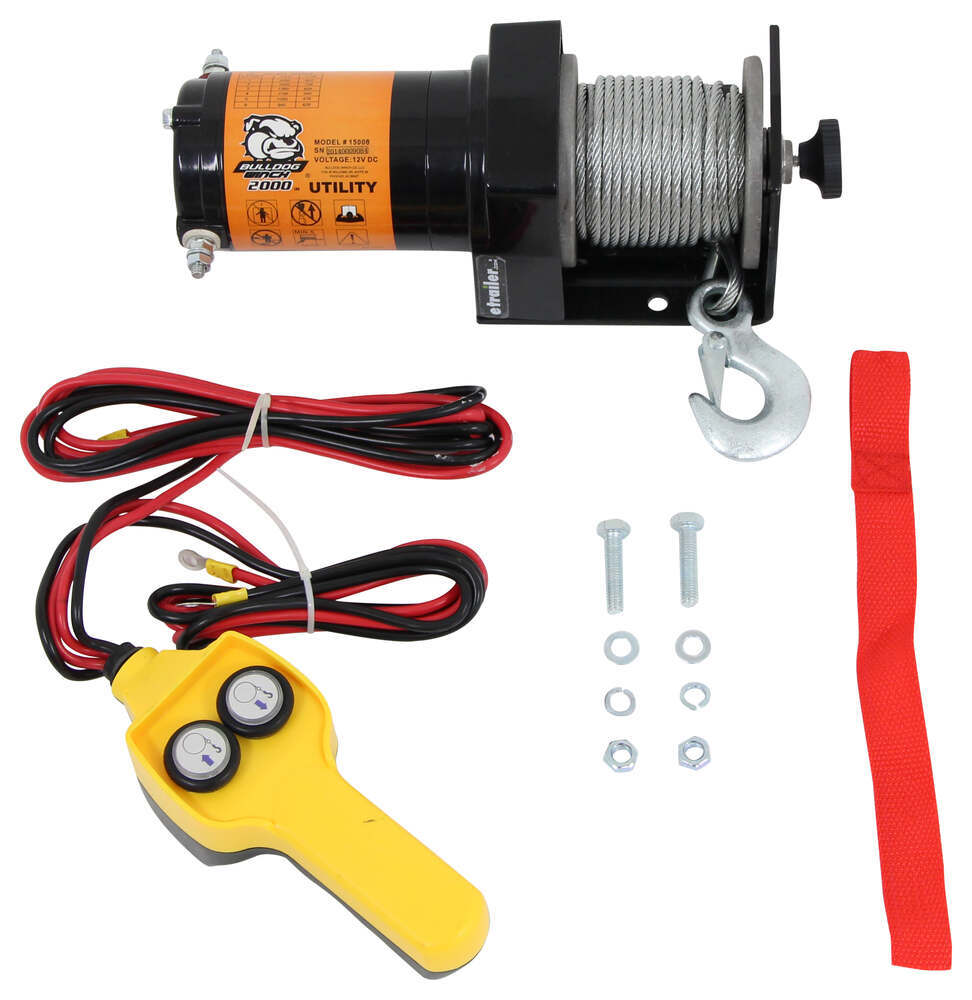 BDW15008 - Plug-In Remote Bulldog Winch Utility Winch