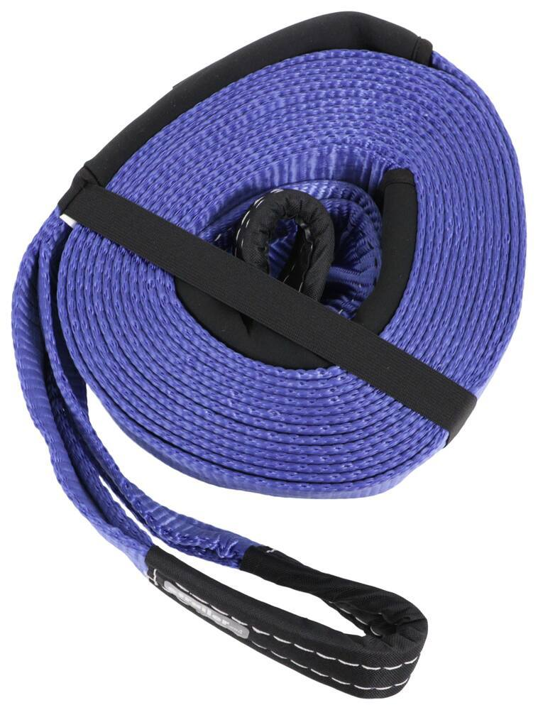 Shippers Supplies 2 x 12 Nylon Recovery Tow Strap 20,000 lbs /& 2-Pack 5//8 Shackle KIT