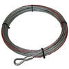 bulldog winch accessories and parts electric wire rope replacement for - 55' long x 1/4 inch diameter 6 000 lbs