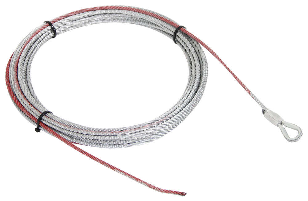 """Replacement Wire Rope for Bulldog Winch - 55' Long x 1/4"""" Diameter - 6,000 lbs Ropes BDW20250"""
